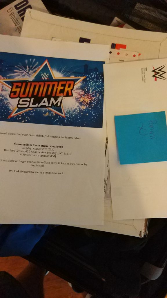 La carta recibida de wwe